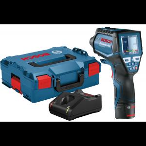 Bosch Termodetektor GIS 1000 C i L-BOXX med 1 x 12V 2Ah batteri & lader  verktøy.no