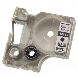 Merkebånd D1 24X7 sort/hvit Dymo verktøy.no