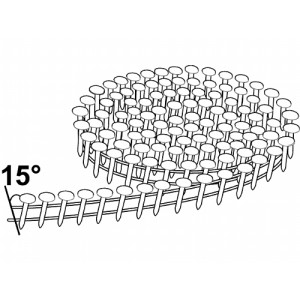 Rundbåndet pappspiker 15° 3,0x32mm Fzv 1200stk verktøy.no