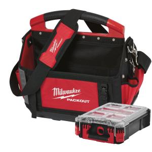 Milwaukee PACKOUT™ Verktøybag 40cm med 1 tilbehørskoffert Organiser Verktøy.no