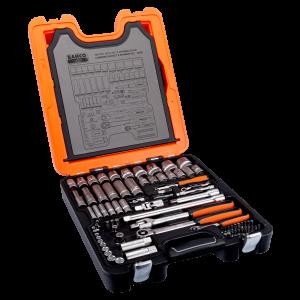 """BAHCO 1/4"""" og 1/2"""" pipesett med firkantinnfestning samt kombinasjonsnøkkelsett S103 Verktøy.no"""