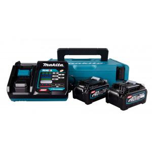 Makita 40V Batterisett XGT ® 2 stk 40V 4,0Ah batteri & lader i Makpac koffert Verktøy.no