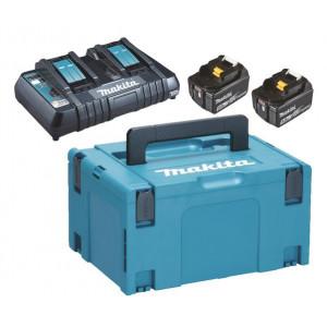 Makita Powerpack 18V 2x 6.0Ah batteri og hurtiglader verktøy.no