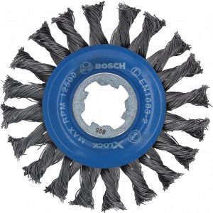 Bosch X-LOCK Skivebørste i stål, vrid tråd 115 stål