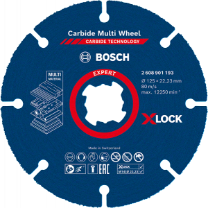 Bosch EXPERT Carbide Multi Wheel X-LOCK-kappeskive 125 mm Verktøy.no