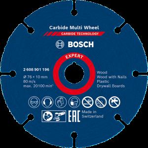 Bosch Carbide Multi Wheel skjæreskiver 76 x 10 verktøy.no