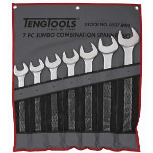 TengTools 7 deler MM mål Kombinasjonsnøkkelsett i verktøyfutteral 6507JMM