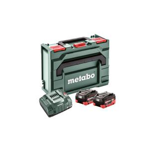 Metabo Basis-sett 2 x 18V LiHD 8,0Ah & lader + MetaLoc III koffert Verktøy.no