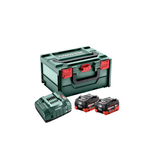 Metabo Basis-sett 2 x 18V LiHD 10,0Ah & lader + MetaBOX 215