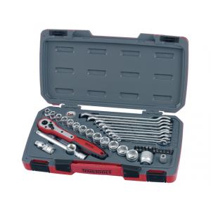 """Teng Tools pipenøkkelsett med 3/8"""" firkantfeste i 40 deler verktøy.no"""