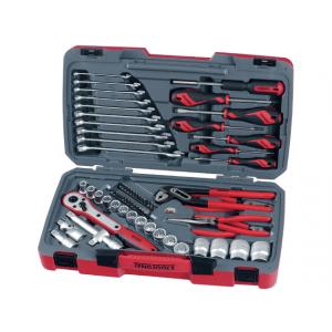 """Teng Tools pipenøkkelsett med 1/2"""" firkantfeste 68 deler T1268 verktøy.no"""