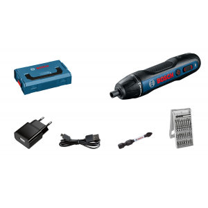 Bosch GO 3.6V skrumaskin i L-BOXX Mini med bits-sett  verktøy.no