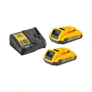 DeWalt Batteripakke DCB115D2 2 x 18V XR 2,0Ah batteri & lader