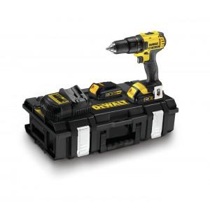 DeWalt 18V XR Compact bor-/skrutrekker i koffert med 2 x 1.5Ah batteri & lader DCD780C2 verktøy.no