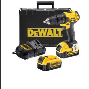 DeWalt 18V XR bor-/skrutrekker i koffert med 2 x 4Ah batteri & lader DCD780M2 verktøy.no