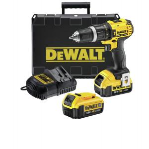 DeWalt 18V XR slag-/skrutrekker i koffert med 2 x 4Ah batteri & lader DCD785M2 verktøy.no