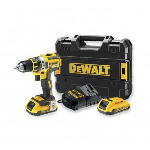 DeWalt 18V XR bor-/skrutrekker i koffert med 2 x 2Ah batteri & lader DCD790D2 verktøy.no