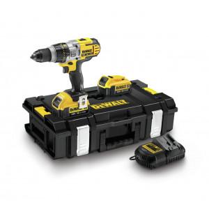 DeWalt 18V XR slag-/skrutrekker i koffert med 2 x 18V 4Ah batteri & lader DCD985M2 verktøy.no