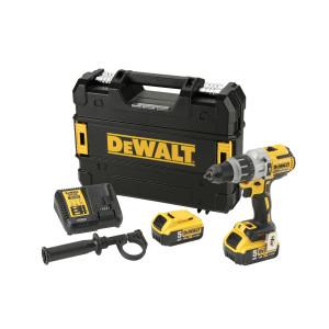 DeWalt Slagdrill Premium 18V XR DCD996P2 18V 2x5.0Ah med batteri, lader og oppbevaringsboks verktøy.no