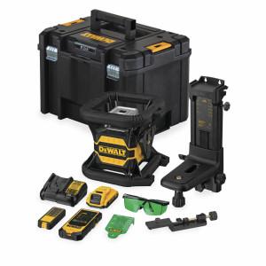 DeWalt 18V Rotasjonslaser Grønn DCE080D1GS med Bluetooth - i koffert med tilbehør & batteri og lader Verktøy.no