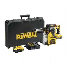 DeWalt 18V XR SDS-Plus borhammer med støvavsug i koffert med 2 x 18V 5Ah batteri & lader DCH275P2 verktøy.no