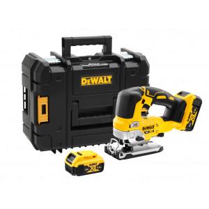 DeWalt 18V XR Stikksag i T-STAK koffert med 2 x 18V 5.0Ah batterier & lader DCS334P2 verktøy.no