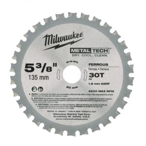 Milwaukee sirkelsagblad til sagklinge (135x20x30T) verktøy.no