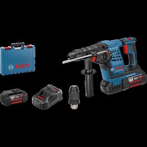 Bosch borhammer GBH 36 VF-LI SDS-Plus I koffert med 2 x 36V 6Ah batterier & lader verktøy.no