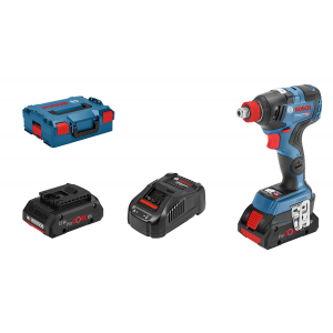 Bosch 18V slagtrekker GDX 18V-200 C I L-BOXX med 2 x 18V 4Ah ProCORE batterier & lader