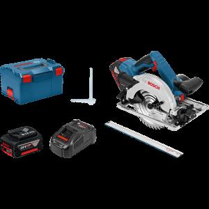 Bosch sirkelsag GKS 18V-57 G i L-BOXX med parallellanlegg & styreskinne FSN 1600 verktøy.no