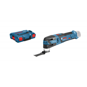 Bosch Multi-Cutter GOP 12V-28 i L-BOXX med 2 x 12V 3Ah batterier & lader med Starlock blader & deltaslipesåle + 5 slipeark verktøy.no