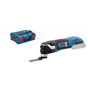 Bosch multikutter GOP 18 V-28 Solo i L-BOXX med 1 StarlockPlus BIM dykksagblad PAIZ 32 APB verktøy.no