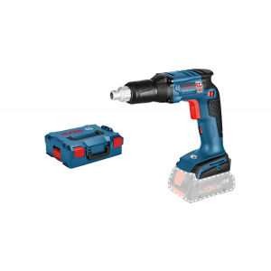 Bosch skrumaskin for gipsplater GSR 18 V-EC TE Solo i L-Boxx med dybdeanlegg & universalholder verktøy.no