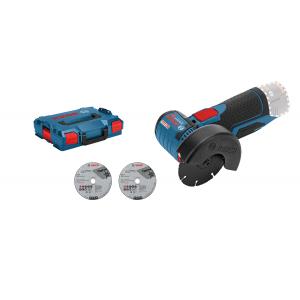 Bosch vinkelsliper GWS 12 V-76 Solo i L-BOXX med 3 kappeskiver  verktøy.no