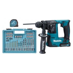 Makita borhammer 12V  SDS-PLUS 2X2AH HR140DWAE1 med tilbehørspakke verktøy.no