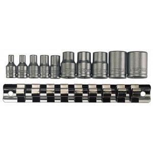 """TengTools TX-pipesett med 1/4"""" og 3/8"""" firkantfeste M3814 Verktøy.no"""