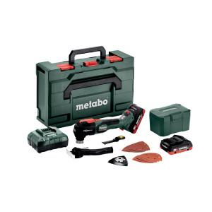 Metabo\Metabo 18V LXT BL Multikutter i MetaBOX med 2 x 18V 4.0Ah batterier & lader