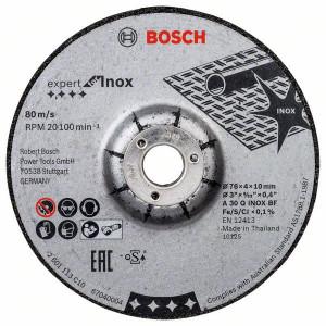 Bosch Expert for Inox slipeskiver (76x4x10) (2 pk)  verktøy.no