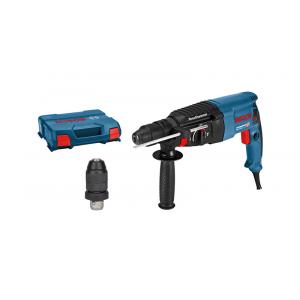 Bosch borhammer med SDS plus GBH 2-26 F i oppbevaringskoffert med tilbehør verktøy.no