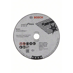 Bosch Expert for Inox-kappeskiver 76mm 5 pakk verktøy.no