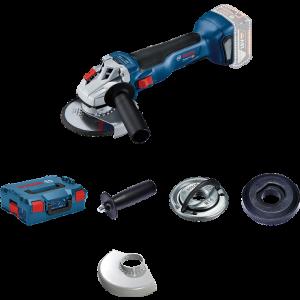 Bosch 18V vinkelsliper med flens GWS 18V-10 i L-BOXX uten batteri & lader verktøy.no