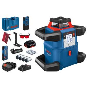Bosch Rotasjonslaser GRL 600 CHV i oppbevaringskoffert med M/LR 60 M/RB60 verktøy.no