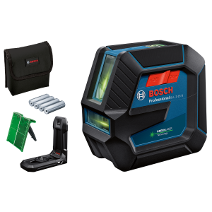 Bosch linjelaser GLL 2-15 G med 4 (AA) batterier, lasermålplate, LB 10 universalholder  verktøy.no