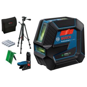 Bosch kombilaser GCL 2-50 G med 4 (AA) batterier, stativ , lasermåltavle, lomme verktøy.no