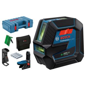 Bosch Kombilaser GCL 2-50 G med 4 (AA) Batterier, lasermåltavle, Lomme, Takklemme DK 10