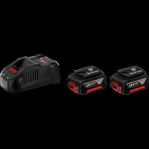 Bosch startsett 2 stk. GBA 18V 6.0Ah + GAL 3680 CV verktøy.no