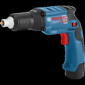 Bosch 12V skrumaskin for gipsplater GTB 12V-11 i L-BOXX med 2 x 12V 3.0Ah batterier & lader