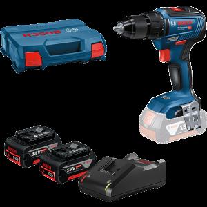 Bosch 18V Bor-/Skrutrekker GSR 18V-55 i L-CASE med 2 x 18V 4,0Ah baterier & lader
