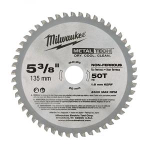 Milwaukee sirkelsagblad til aluminium (135x20x50T) verktøy.no