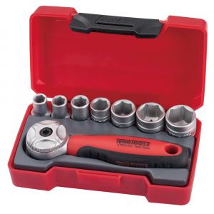 """Teng Tools pipenøkkelsett 1/4"""" 72 tenner skralle (8 deler) verktøy.no"""